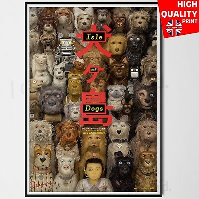 Isle Of Dogs 2018 Wall Poster | A4 A3 A2 A1 |