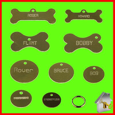 Personalised Pet Tags -High Quality Engraving ID for Dog Tags & Cat Tags Brass