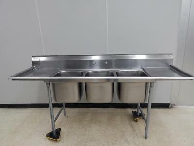 "Eagle 3-Bowl Sink wtih 2 Drainboards, 90"" Wide"