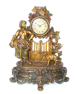 Rare Vintage Mantel CLOCK ornate