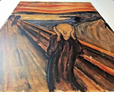 """""""The Scream"""" by Edvard Munch Giclee Art Print Poster 23 1/2"""" x 31 1/2"""" Italy"""