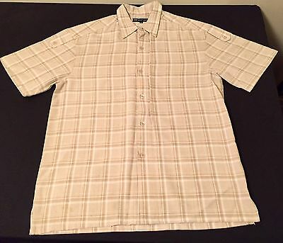 Men Large/36W-28L Tan/Cream Montique 100% Polyester Outfit.
