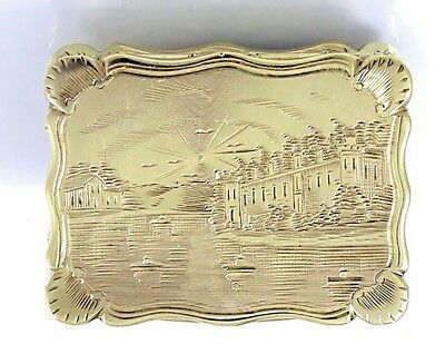 Edward Smith Birmingham English Silver VINAIGRETTE Scenic 1847