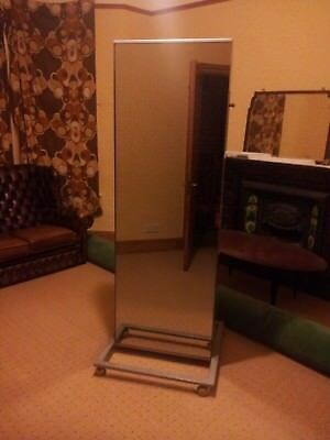 LARGE PORTABLE Cheval Mirror on Wheels. Home, retail, commercial ...