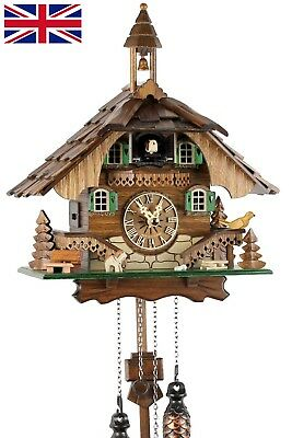 'Uhren-Park Eble' Black Forest cuckoo clock made of wood battery operated quar