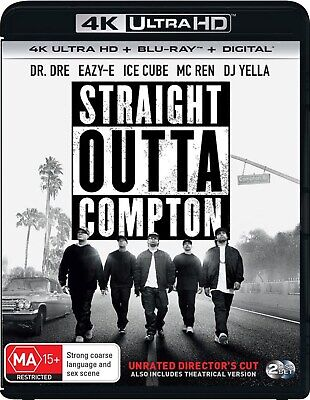 Straight Outta Compton Directors Cut 4K Ultra HD Blu-ray Digital Download UHD