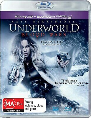 Underworld Blood Wars 3D Edition with 2D Edition Digital Download Blu-ray NEW