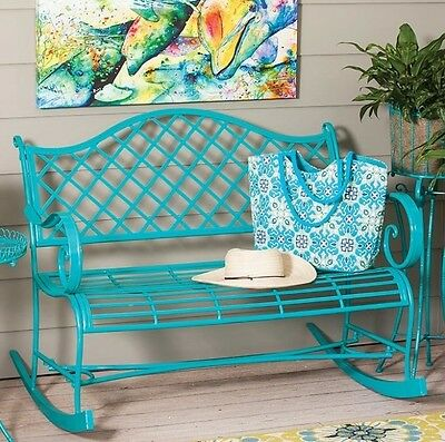 metal garden rocking chair outdoor patio furniture shabby chic bench