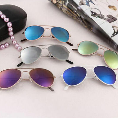 Anti-UV Sunglasses  Hot Children Light Colorful Sunglasses Baby Silver Aviator