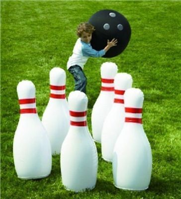 Jumbo Giant Inflatable Bowling Game Set Indoor Outdoor Waterproof Kids Fun