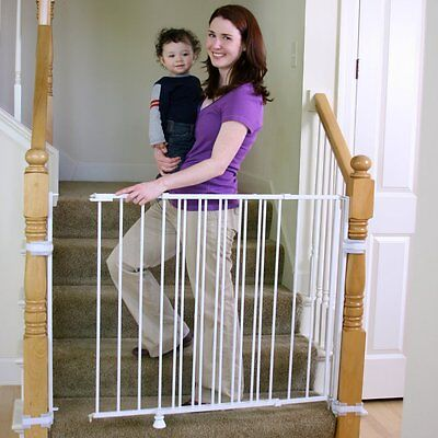 Regalo Extra Tall Top of Stairs Baby Gate, White