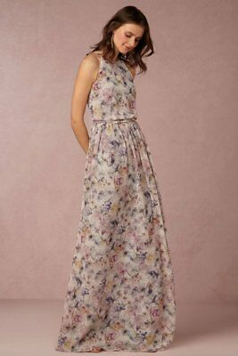 aa761ca138 New Bhldn Anthropologie Donna Morgan Wildflower Alana Gown Dress 18 Wedding