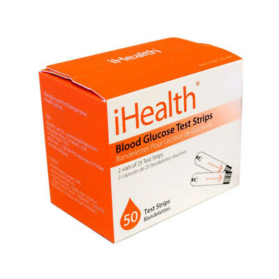 iHealth Blood Glucose Test Strips (50 Count)
