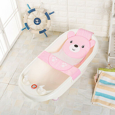 Baby Bath Seat Net Bathtub Sling Shower Mesh Anti-Slip Infant Bathing Cradle New