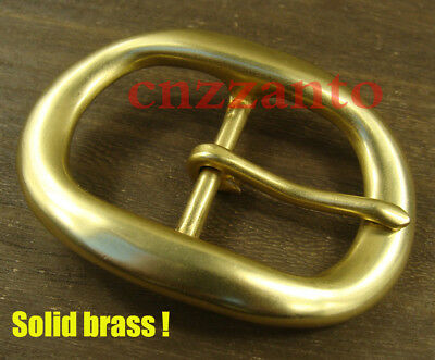 "Heavy duty Solid Brass oval Classical Tongue Pin Hippie Belt Buckles 1 1/2"" Z279"