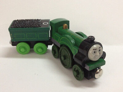 2pcs Thomas & Friends Railway Train Emily and Tender Set Magnetic Wooden Toy New