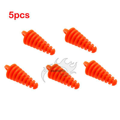 5x Rubber Muffler Exhaust Pipe Wash Plug For 2-Stroke ATV Quad Dirt Bike Scooter