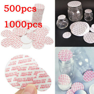 500/1000pcs 20-38mm Press Seal Cap Liners Foam Safety Tamper Seals Jar Bottle UK