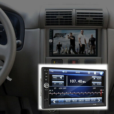 7inch 2DIN Car MP5 Player Bluetooth Touch Screen Stereo Radio HD+Rear Camera New