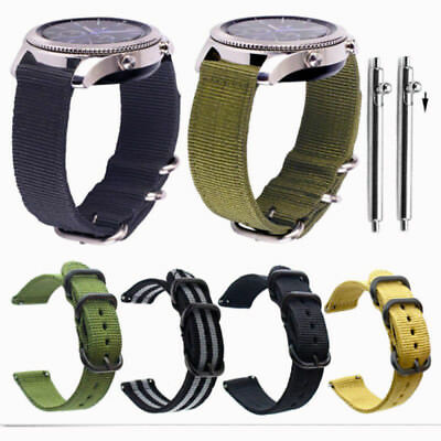 Quick Release Military Woven Nylon Canvas Fabric Band Strap Buckle 20mm 22mm