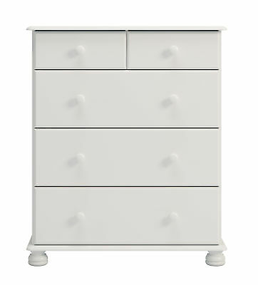 2+3 Deep Chest Of Drawers in Painted White Country Traditional Bedroom Style