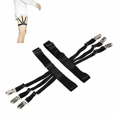 1 Pair Male Shirt Garters Stays Business Suspenders Braces Men's Garter Belt Hot
