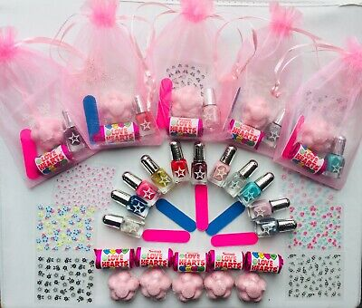 10 x Girls Unicorn Pamper Birthday Party Pre-filled Gift Bags Nails Sleepover