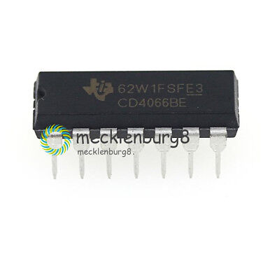 10Pcs Cd4066 Ti Dip-14 Cmos Quad Bilateral Switch New Ic New