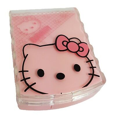 B Pink Happy Kitty Coloured Contact Lens Lenses Travel Kit Mirror Case Tweezers
