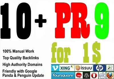 Give you 10+ high quality links from the most Authority sites on the planet