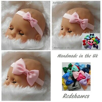 Baby Headband with Bow- (5 or 7cm bow)- FREE POSTAGE (Em1)