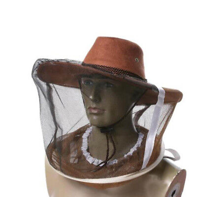 Beekeeper Guard Cowboy Anti Mosquito Bee Insect Face Head Veil Beekeeping  Hat c9b0afb0d624