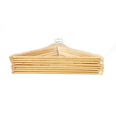 1pcs Wooden Coat Hangers Suit Trouser Garments Clothes Coat Hanger Bar AU M99