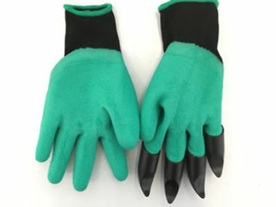 1 the claw grip garden gloves dig rake and more! plastic fingers