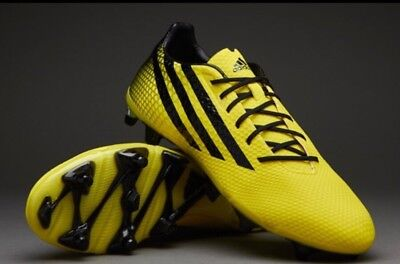 Adidas Mens Crazyquick Malice FG Rugby Boots Bright Yellow/Black 12 1/2 RRP £160
