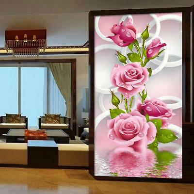 5D DIY Diamond Painting Rose Flower Embroidery Cross Stitch Kit Home Wall Decor