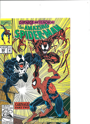 Amazing Spider-Man no. 362, Marvel, second Carnage, 1992, VF-