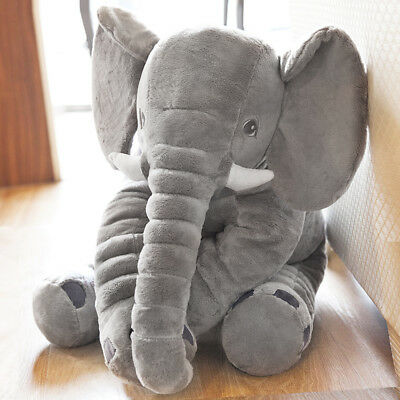 Baby Kids Stuff Long Nose Elephant Soft Doll Toy Lumbar Pillow Plush Gift Child