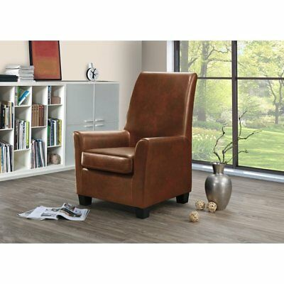 Outstanding Leather High Back Accent Chair Tan Black Grey Or Brown Ibusinesslaw Wood Chair Design Ideas Ibusinesslaworg