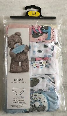 Me To You Tatty Ted Teddy Forest Friends Pants Briefs Knickers x 5 Age 7/8 Years