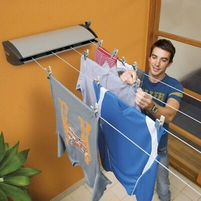Hills Everyday 4 Retractable Wall Mounted Clothes Washing Line