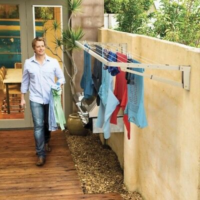 Hills Supa Fold Compact Wall Mounted Folding Clothes Washing Line