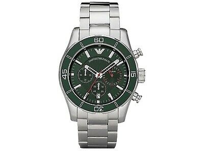 Emporio Armani AR5934 Sportivo Chronograph Analog Stainless Steel Mens Watch