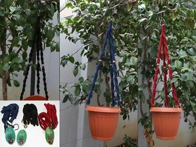 6 x  Hanging Pot Planter rope holder 20cm x 18cm reduced to clear