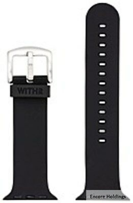 WITHit T-AWN-001-42-WB-01 1.6-Inch Silicone Band for Apple Watch - Black
