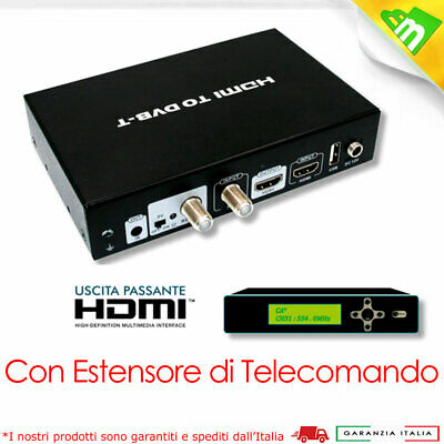 Modulatore Video HDMI uscita RF Digitale Terrestre DVB-T FULL-HD 1080P CON IR CA
