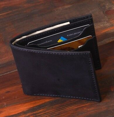 Mens Wallet Genuine Leather Pocket ID Credit Card Money Gift For Man Anniversary