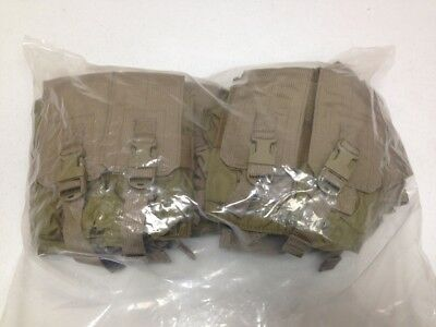 Lot Of 8 Eagle Industries Double Mag Lightweight Pouch Dbl 2 Mags Per Pch Khaki