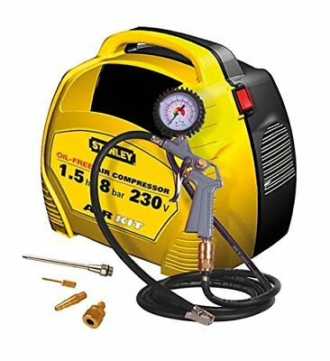 Compressore compatto portatile STANLEY AIR KIT 1.5 HP oilless + KIT Gonfiaggio