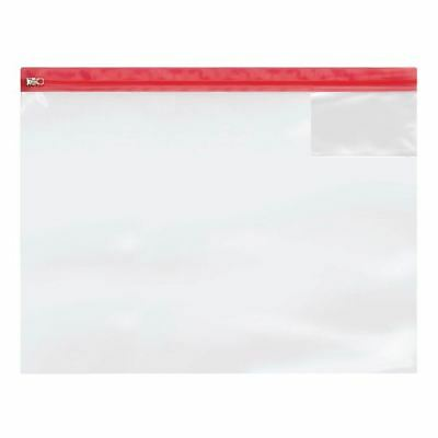 Heavy Duty Zip Bag A3 (Pack of 5) 4713, Metal zip closure for security[STY12366]